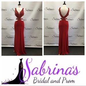 Sherri Hill - Style 50910 - Size 8 - Red